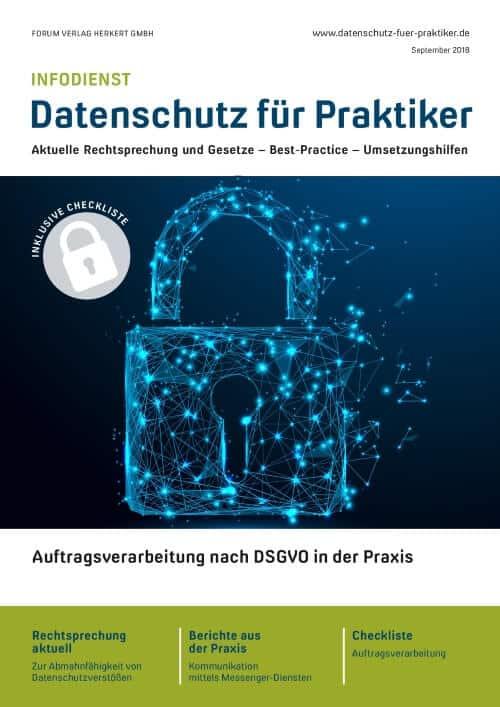 Ausgabe September 2018<br>Auftragsverarbeitung nach DSGVO