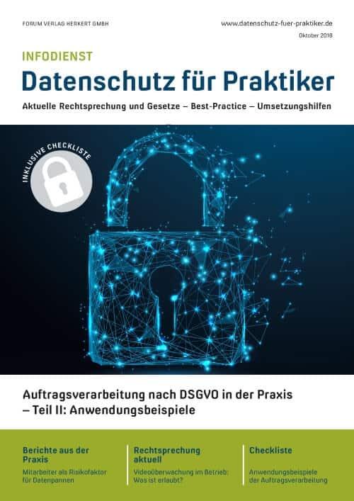 Ausgabe Oktober 2018<br>Anwendungsbeispiele Auftragsverarbeitung