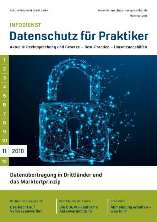 Ausgabe November 2018<br>Datenübertragung in Drittländer