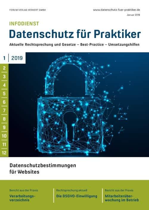 Ausgabe Januar 2019<br>Datenschutzbestimmungen