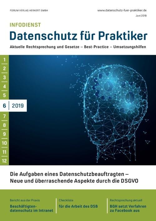 Ausgabe Juni 2019<br>Aufgaben eines Datenschutzbeauftragten