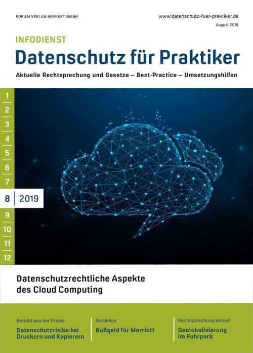 Ausgabe August 2019<br>Datenschutzrechtliche Aspekte des Cloud Computing