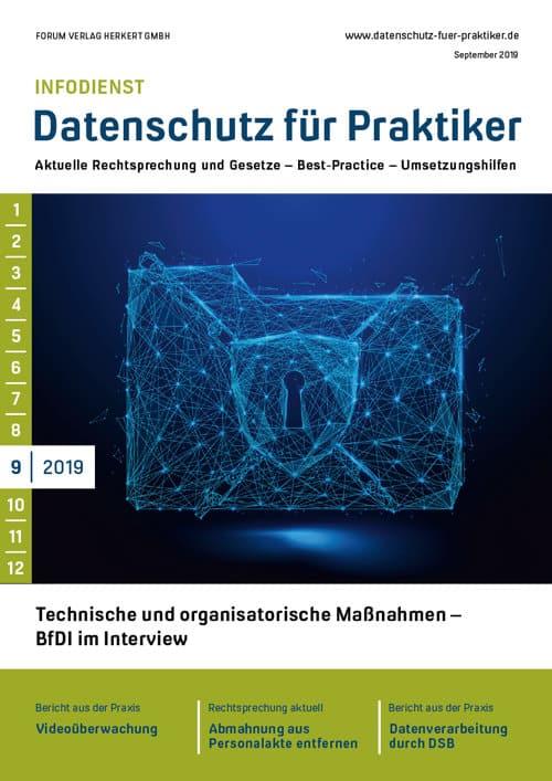 Ausgabe September 2019<br>Technische und organisatorische Maßnahmen – BfDI im Interview