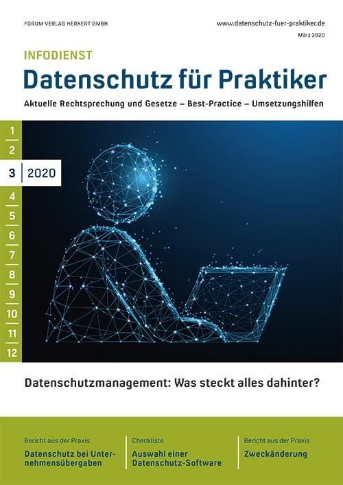 Ausgabe März 2020<br>Datenschutzmanagement