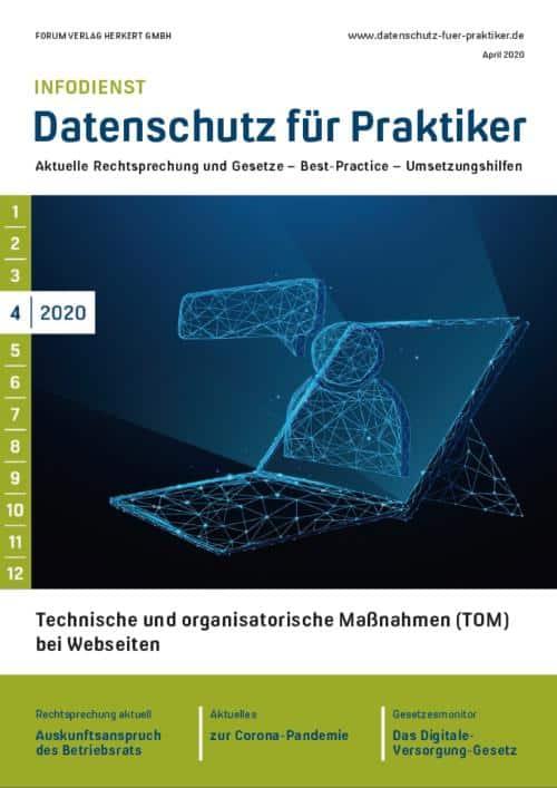 Ausgabe April 2020<br>Technische und organisatorische Maßnahmen (TOM) bei Webseiten