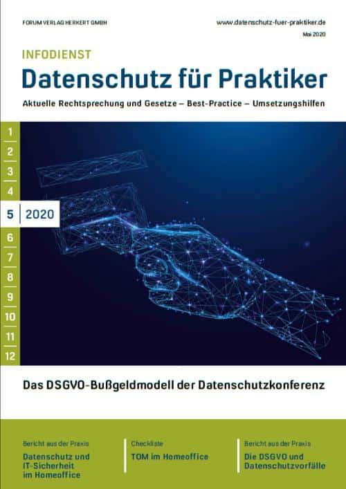 Ausgabe Mai 2020<br>Das DSGVO-Bußgeldmodell der Datenschutzkonferenz