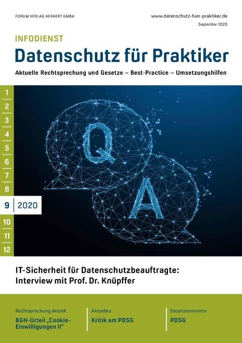 Ausgabe September 2020<br>IT-Sicherheit für Datenschutzbeauftragte