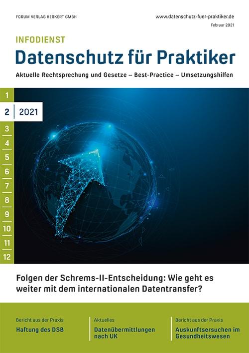 Ausgabe Febraur 2021<br>Schrems-II-Entscheidung