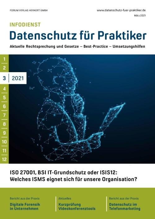 Ausgabe März 2021<br>ISO 27001