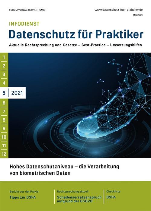 Ausgabe Mai 2021<br>Datenschutzniveau